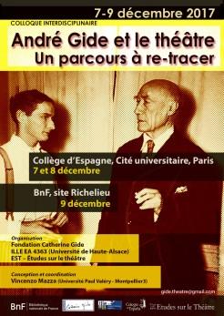 affiche Colloque 'André Gide et le théâtre'